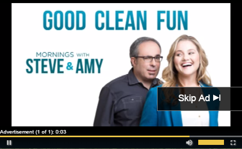 DFP Ad overlayed onto SGplayer